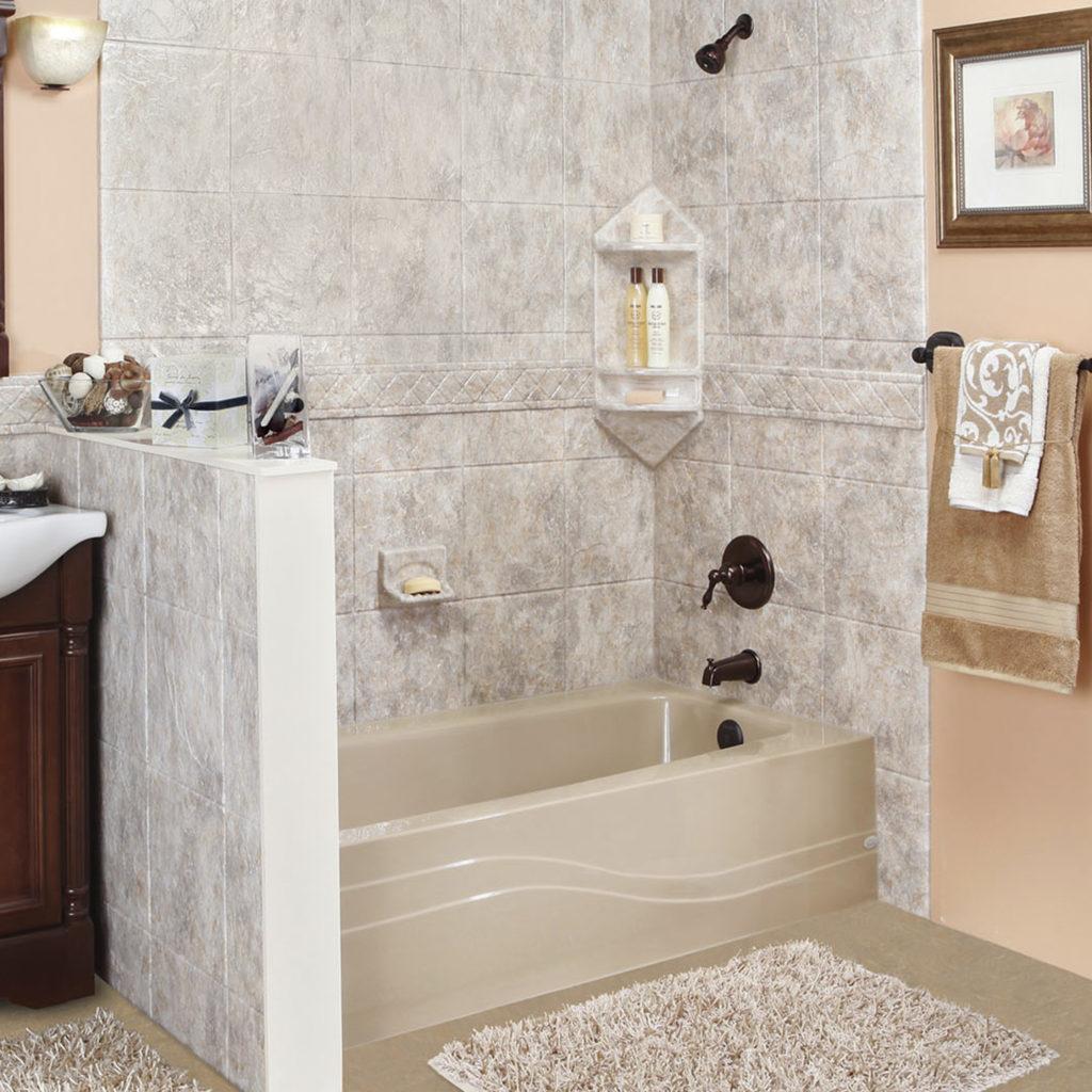 new bathtub and shower